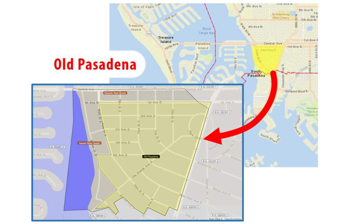 Old Pasadena Neighborhood Map